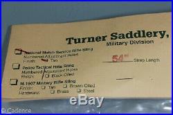 US WW2 M1907 M1 Garand M1903 Turner Saddlery Leather Rifle Sling Nat. Match S104