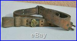 Us Wwi Or Wwii Rifle Leather Sling Springfield Or Garand Military Ww1 Or Ww2
