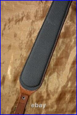 Verney Carron Brown Leather Cobra Style Rifle Sling with Padded Anti Slip Back