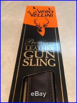 Vero Vellini Premium Non-Slip Rifle Sling Quick-Release Strap Leather+Neoprene