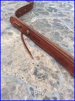 Vintage Bianchi Cobra Leather Rifle Sling