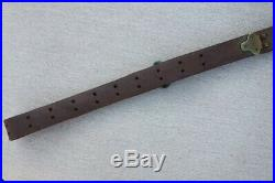 Vintage Leather Sling Springfield 1903 Brass Fittings Original Dated 1917 G&K Co