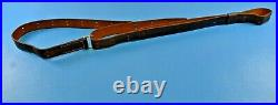 Vintage Red Head Brand Leather Rifle Sling 158T Military Style 1-1/4 Wide