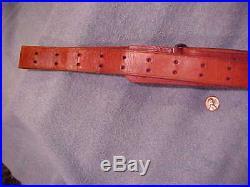 Vintage Reddish Leather sling FOR m1gARAND OR Bolt or Auto 30-06 1 1/4 wide 52