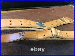 Vintage Springfield Model 14 Rifle 1 wide Rifle Leather Sling Military NEW