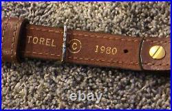 Vintage Torel Padded Rifle Sling 2980 Deer Scene Leather Cowhide Mint