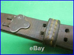 Vintage USGI M1907 Leather Sling M1 Garand Springfield 1903 Rifle