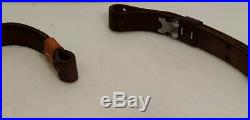 Vintage Winchester or Remington 7/8 Oiled Leather Rifle or Gun Sling Adjustable