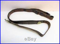 WW1 Leather Sling Rifle Brass Hooks Vintage Collectible