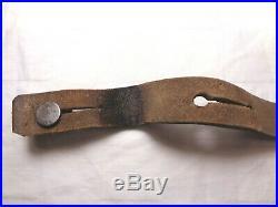 WW1 or WW2 Leather & Brass Italian Carcano Rifle Sling