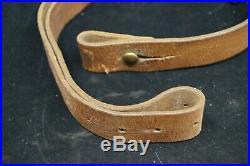 WW2 Era Swedish Mauser Leather Rifle Sling