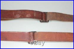 WW2 Era Swiss Leather K31 Rifle Slings European Mauser Sling Lot of 2 S25