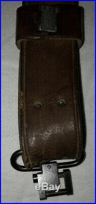 WW2 Original Complete US M1907 Leather Sling Marked M. D. C H&P 1918 Rifle Strap