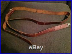 WW2 World War I Garand M1907 Springfield rifle leather sling