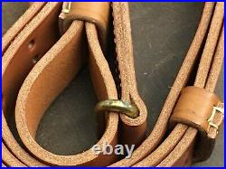 WWII Garand 1903.30-06 Springfield leather & brass rifle sling 48 T. S. CO