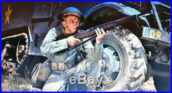 WWII M1 GARAND 30 CAL. NON-FIRING REPLICA w. LEATHER SLING (AGED) BEAUTIFUL SET