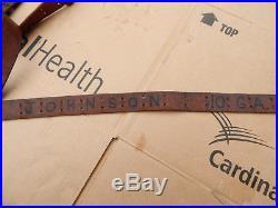WWII M1 Garand 1903 Springfield Leather Rifle Sling marked JOHNSON 10 GA