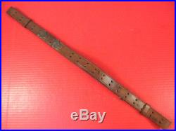 WWII US M1907 Leather Sling M1903 Springfield M1 Garand Rifle Marked Hickok 1943