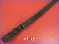 WWI Era US ARMY AEF M1907 Leather Sling M1903 Springfield Rifle Nice #1