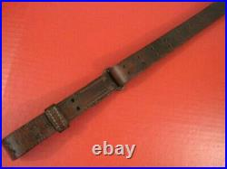 WWI Era US ARMY AEF M1907 Leather Sling M1903 Springfield Rifle Nice Cond #1