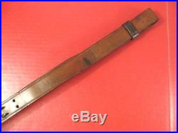 WWI US ARMY M1907 Leather Sling for M1918A3 BAR or M1 Garand Rifle Dated 1918