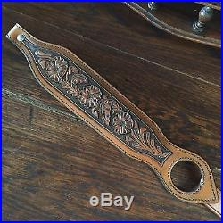 Western Americana SASS Cowboy Action RROW TOOLED SPORTING RIFLE SLING