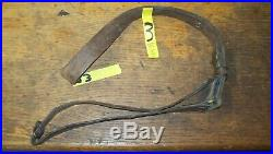 Western Mfg. Co, for 1907 1903 models, 1 1/4 brown leather rifle sling